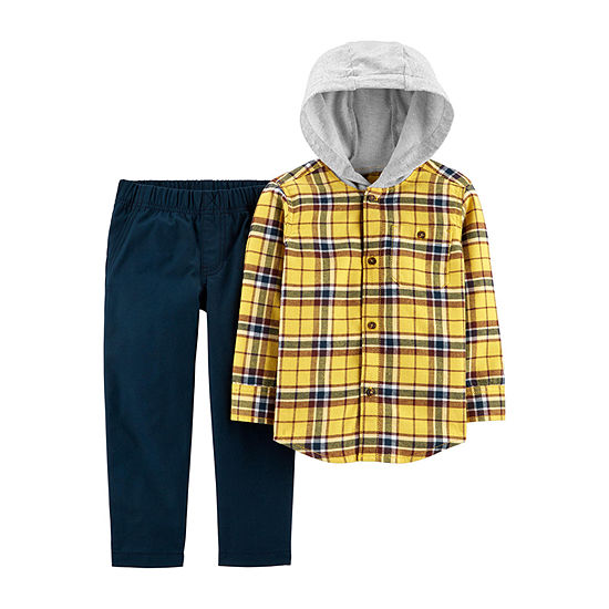 Carter's Boys 2-pc. Plaid Pant Set Toddler