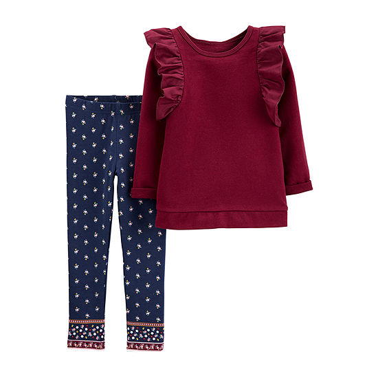 Carter's Girls 2-pc. Legging Set-Toddler