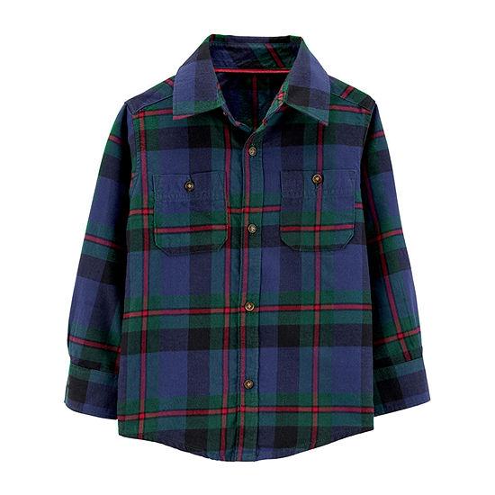 Carter's Boys Long Sleeve Button-Front Shirt Toddler