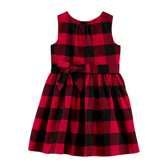 Carter's Girls Sleeveless Plaid A-Line Dress - Toddler