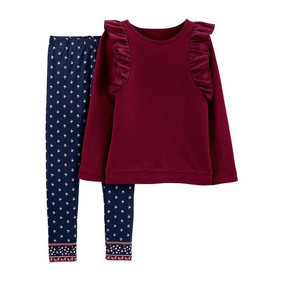 Carter's Girls 2-pc. Legging Set Preschool / Big Kid