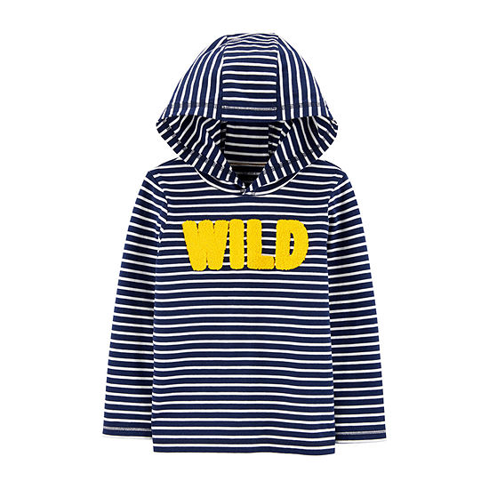 Carter's-Toddler Boys Hooded Neck Long Sleeve Graphic T-Shirt