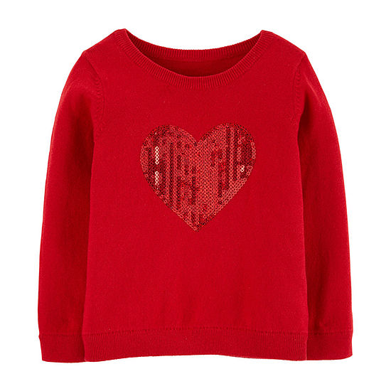 Carter's Girls Crew Neck Long Sleeve Sweatshirt - Toddler