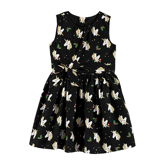Carter's Girls Sleeveless A-Line Dress - Toddler