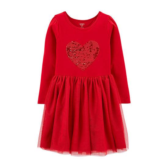Carter's Girls Long Sleeve Tutu Dress - Preschool / Big Kid