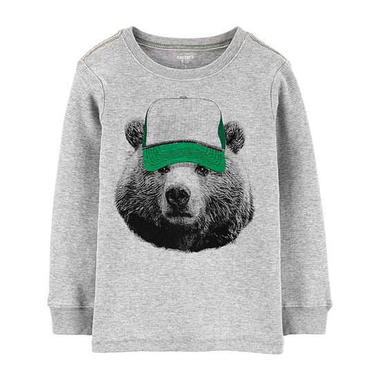 Carter's Boys Crew Neck Long Sleeve T-Shirt Preschool / Big Kid