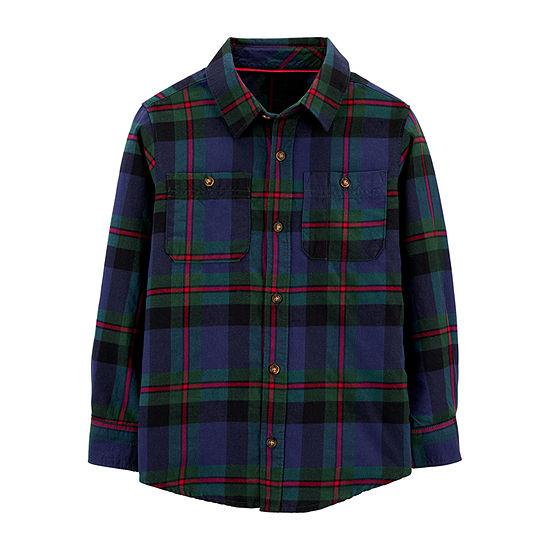 Carter's Little & Big Boys Long Sleeve Button-Down Shirt
