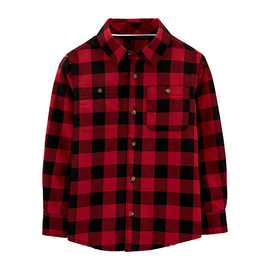 Carter's Little & Big Boys Long Sleeve Button-Down Shirt