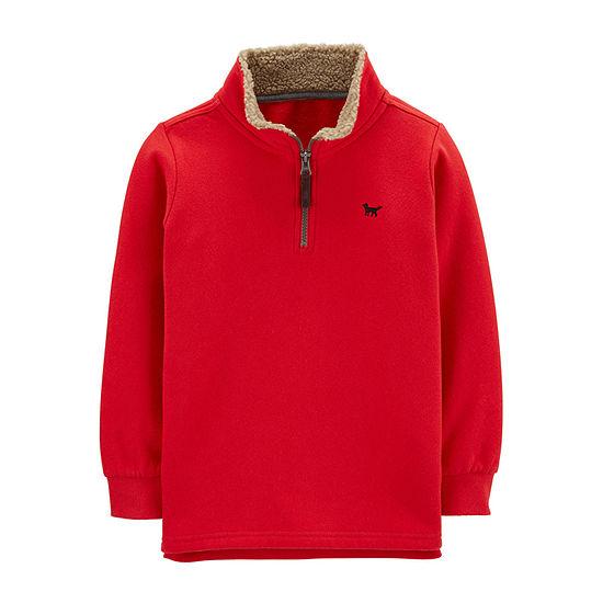 Carter's Boys High Neck Long Sleeve Sweatshirt Preschool / Big Kid