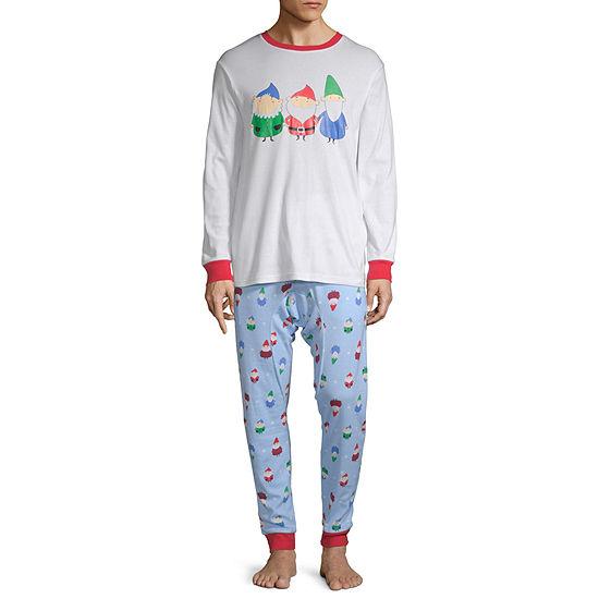 Secret Santa Gnomes Family Mens 2-pc. Pant Pajama Set