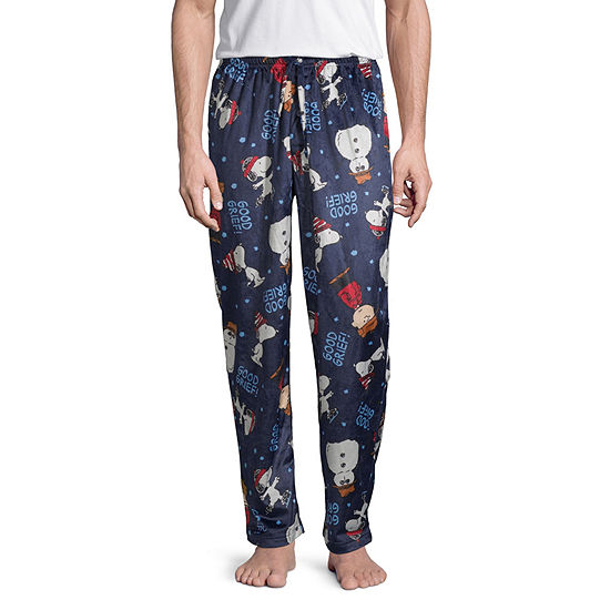 Mens Peanuts Fleece Pajama Pants
