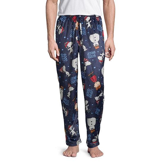 Peanuts Mens Fleece Peanuts Pajama Pants