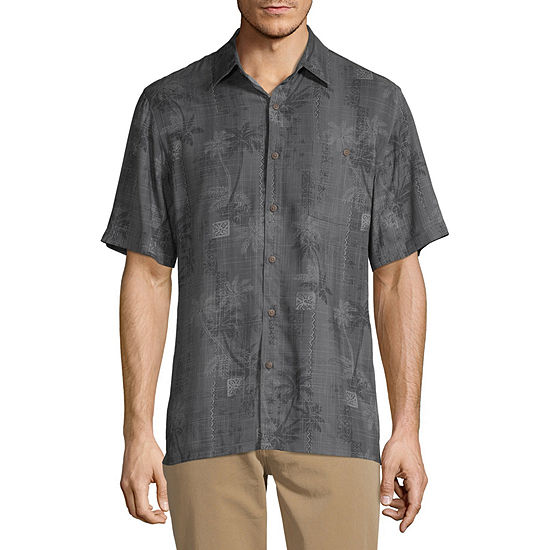 Campia Mens Short Sleeve Button-Down Shirt