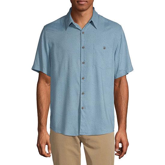 Campia Untuck Mens Short Sleeve Button-Down Shirt