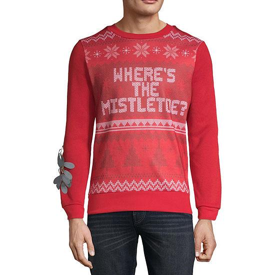 Novelty Season Ugly Christmas Mens Crew Neck Long Sleeve Sweatshirt