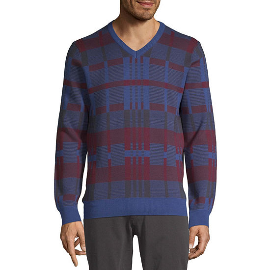 Perry Ellis Crew Neck Long Sleeve Knit Pullover Sweater