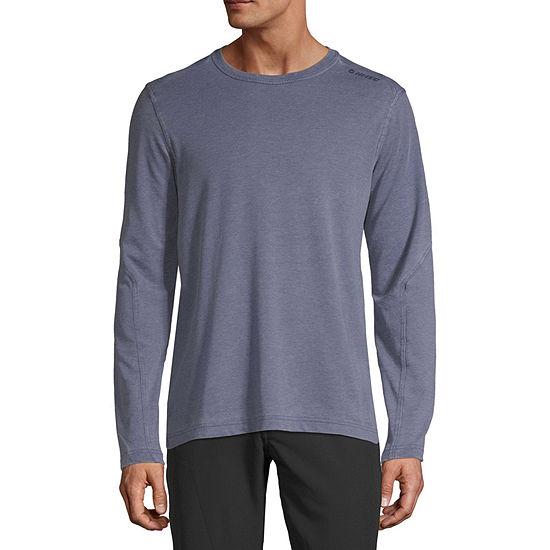 Hi-Tec Washed Mens Crew Neck Long Sleeve Moisture Wicking T-Shirt