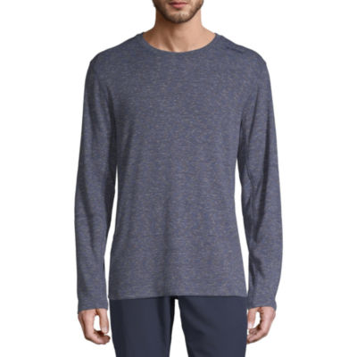 Hi-Tec Rib Space Dyed Mens Crew Neck Long Sleeve Moisture Wicking T-Shirt