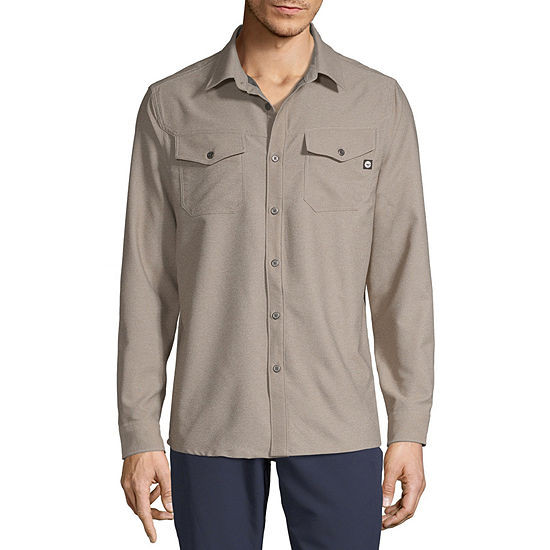 Hi-Tec Stretch Flannel Mens Long Sleeve Moisture Wicking Button-Front Shirt