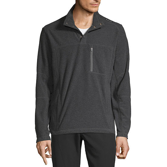 Hi-Tec Textured Fleece Mens Mock Neck Long Sleeve Quarter-Zip Pullover