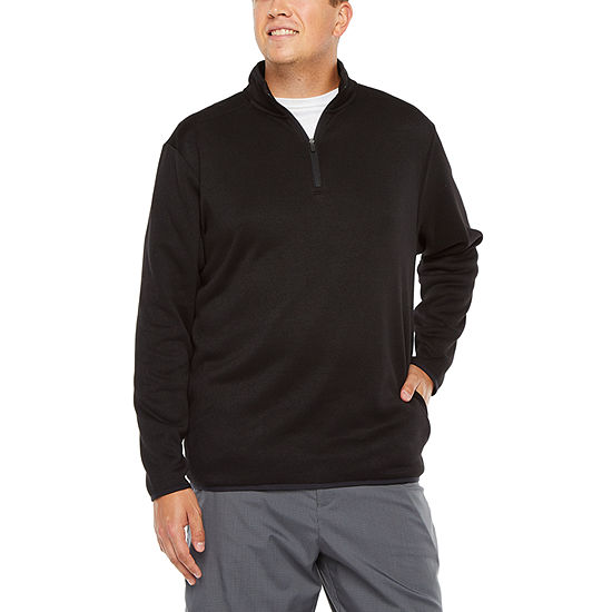 PGA TOUR Big and Tall Mens Mock Neck Long Sleeve Quarter-Zip Pullover