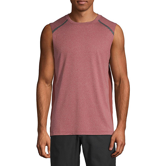 Msx By Michael Strahan Mens Crew Neck Sleeveless Muscle T-Shirt