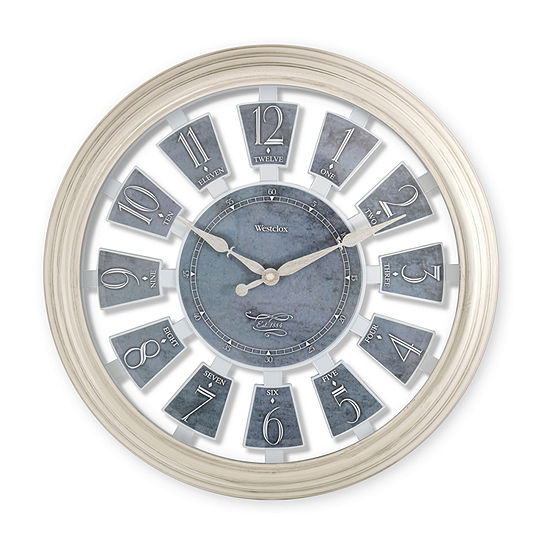 "Westclox 15"" Arabic Number Panels Wall Clock"