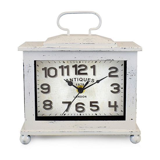 "Westclox 7.75"" Vintage Rectangle Wall Clock"