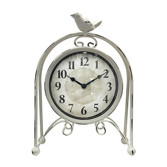 "Westclox 9.5"" Bird On Arch Wall Clock"