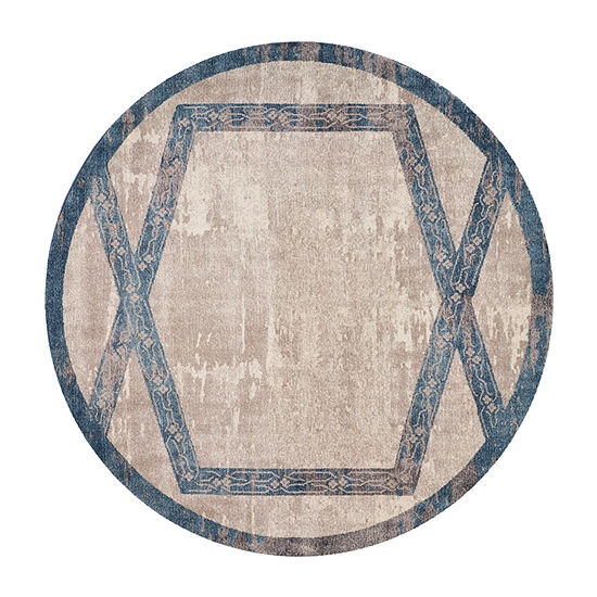 Kas Winston Overlay By Libby Langdon Round Indoor Rugs