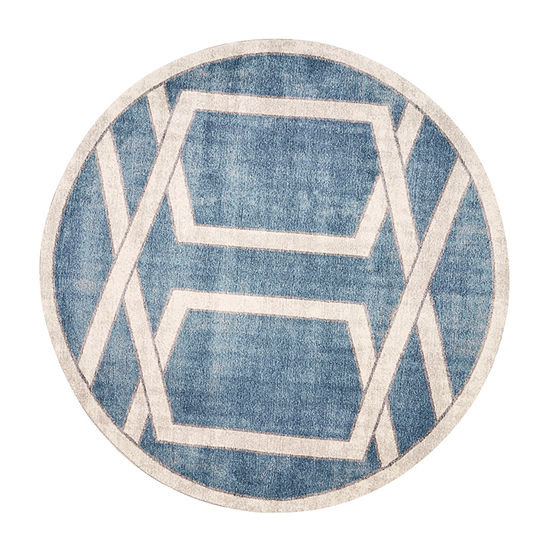 Kas Winston Directional By Libby Langdon Round Indoor Rugs