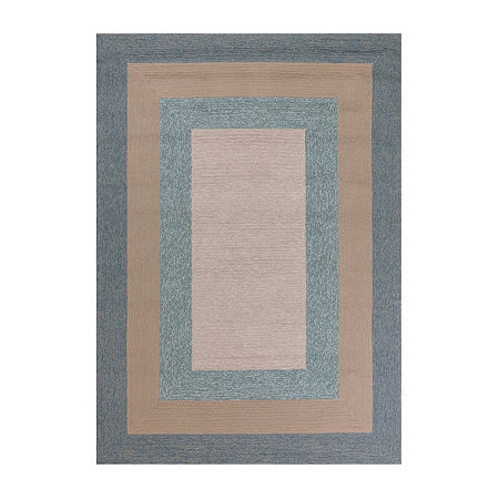 Kas Hampton Highview By Libby Langdon Hooked Rectangular Indoor/Outdoor Rugs, One Size , Blue Product Image