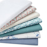 JCPenney Home™ 300tc 100% Cotton Percale Ultra Soft Solid and Print Sheet Sets