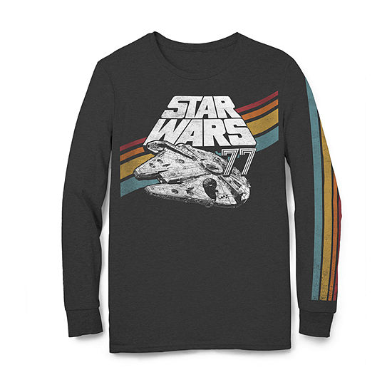 Big and Tall Mens Crew Neck Long Sleeve Star Wars Graphic T-Shirt
