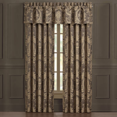 Five Queens Court Neapolitan Light-Filtering Rod-Pocket Set of 2 Curtain Panel