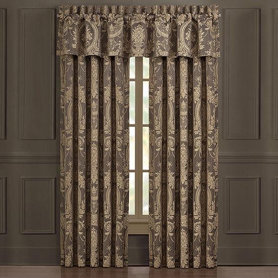 Five Queens Court Neapolitan Light-Filtering Rod-Pocket Set of 2 Curtain Panel