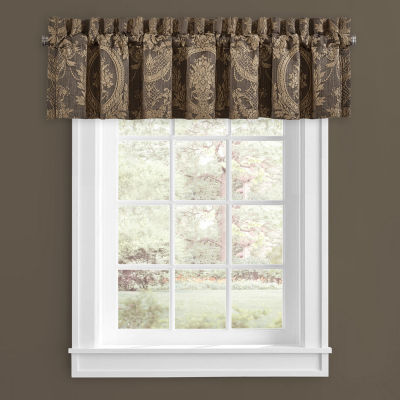Five Queens Court Neapolitan Rod-Pocket Tailored Valance