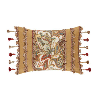 Five Queens Court August Rectangular Throw Pillow