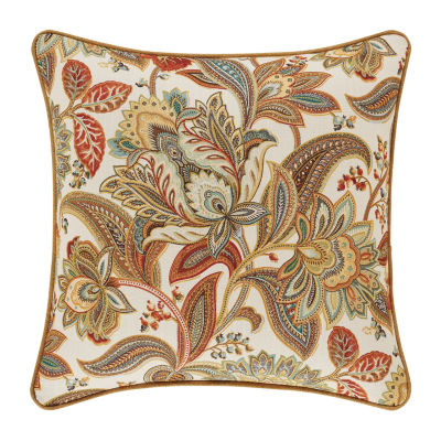 Five Queens Court August 18x18 Square Throw Pillow