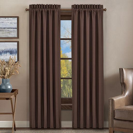 Queen Street Qakville Room Darkening Rod-Pocket Set of 2 Curtain Panel