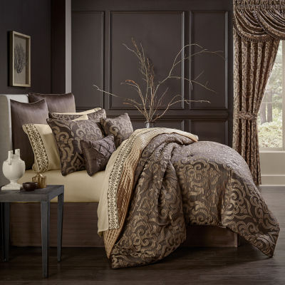 Queen Street Monroe 6-pc. Damask + Scroll Comforter Set