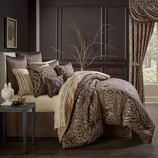 Queen Street Monroe 6-pc. Damask + Scroll Comforter Set