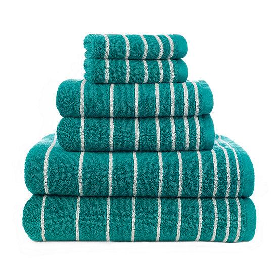 American Dawn Evelyn Stripe 6-pc. Bath Towel Set