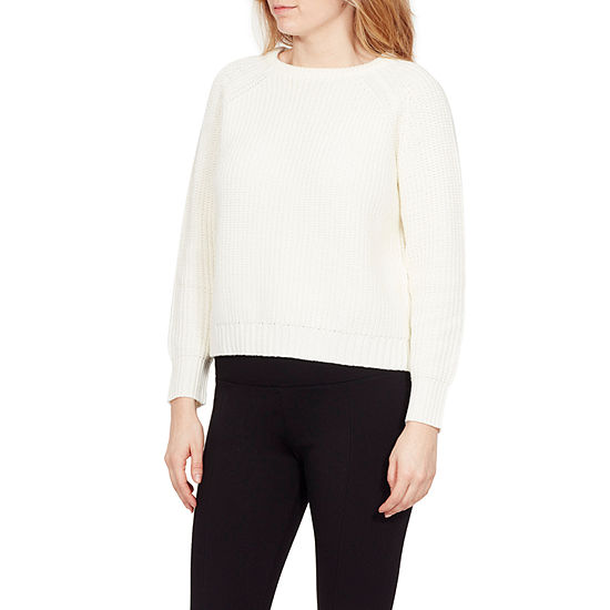Larry Levine Larry Levine Womens Round Neck Long Sleeve Pullover Sweater