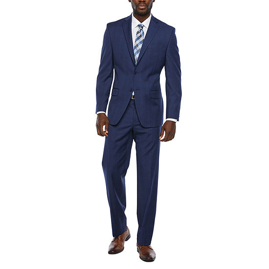 Collection by Michael Strahan Plaid Classic Fit Stretch Suit Separates