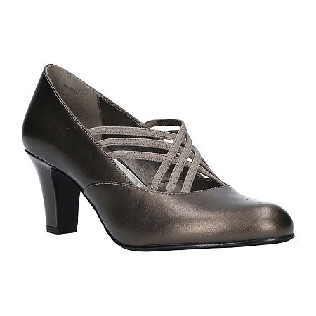 Easy Street Womens Rumer Spike Heel Pumps, 5 1/2 Medium, Gray