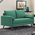 Carly Roll-Arm Loveseat