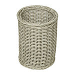 Baum Set Of 3-pc.Gray Faux Wicker Decorative Basket