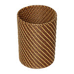 Baum Set Of 3-pc.Brown Faux Wicker Decorative Basket