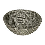Baum Set Of 3-pc Gray Faux Wicker Decorative Basket